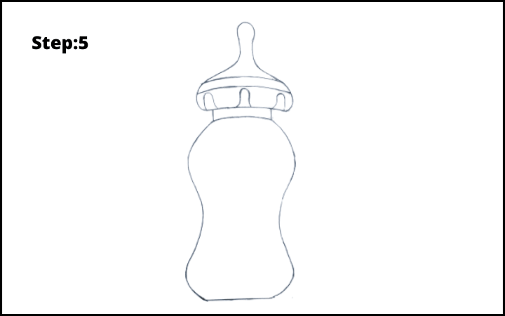 Baby Bottle Drawing  step 5