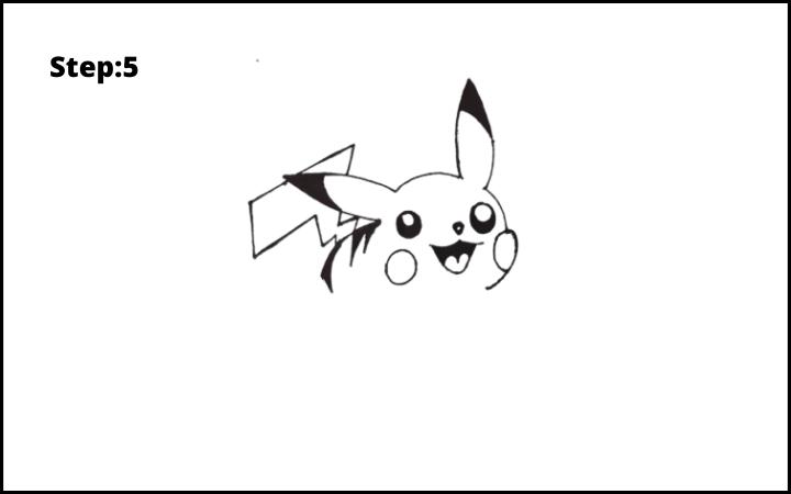 How to Draw Pikachu Pokemon STEP 5