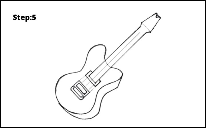 Draw a Guitar step 5