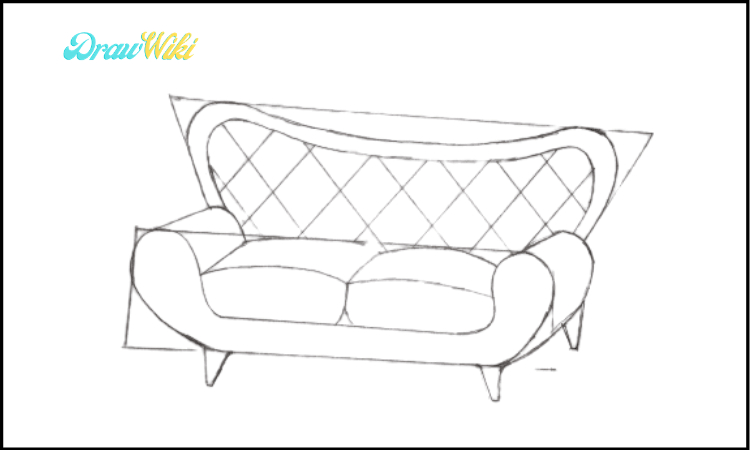 Couch Drawing step 5