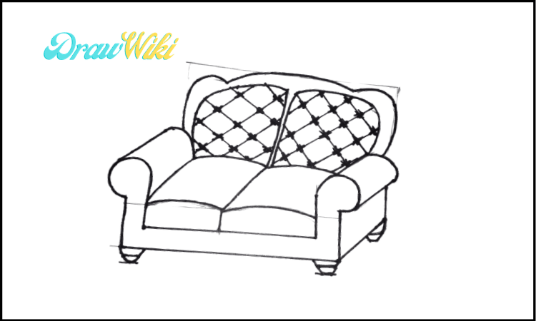 3rd Design Couch Drawing step 5