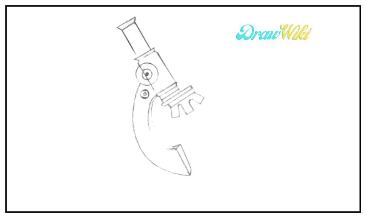 draw a microscope step 5