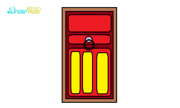 How to draw a Closed ordinary door step 5
