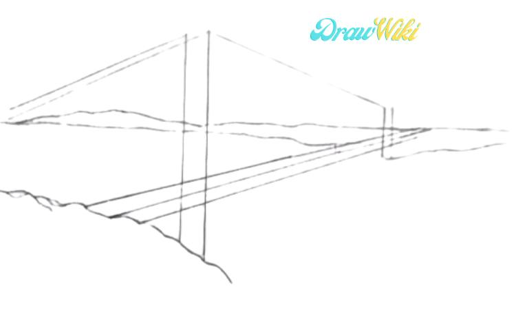 How To Draw Golden Gate Bridge Step 5