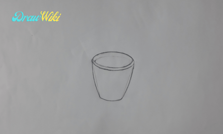 How to draw a flower with pot step 5