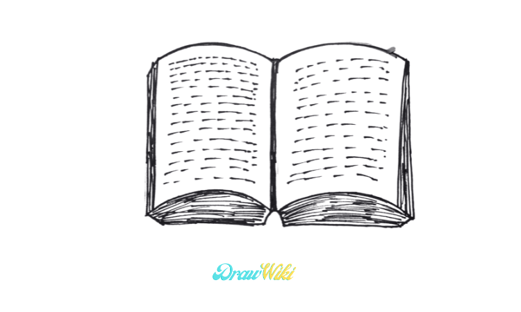 How To Draw an Open Book step 5
