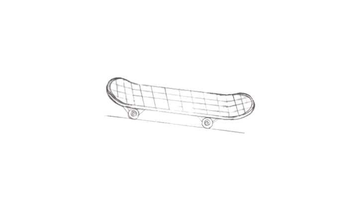 How to Draw a Skateboard step 5