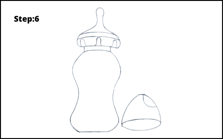 Baby Bottle Drawing  step 6