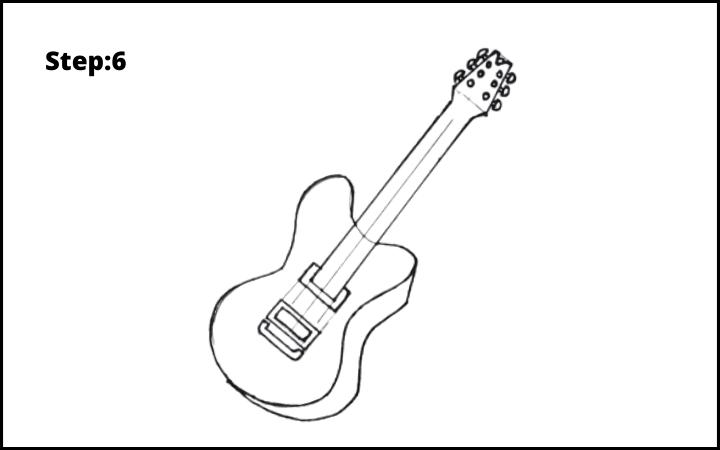 Draw a Guitar step 6