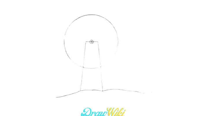 How To Draw a Windmill Step 5