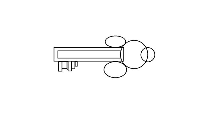 How To Draw a Key step 6