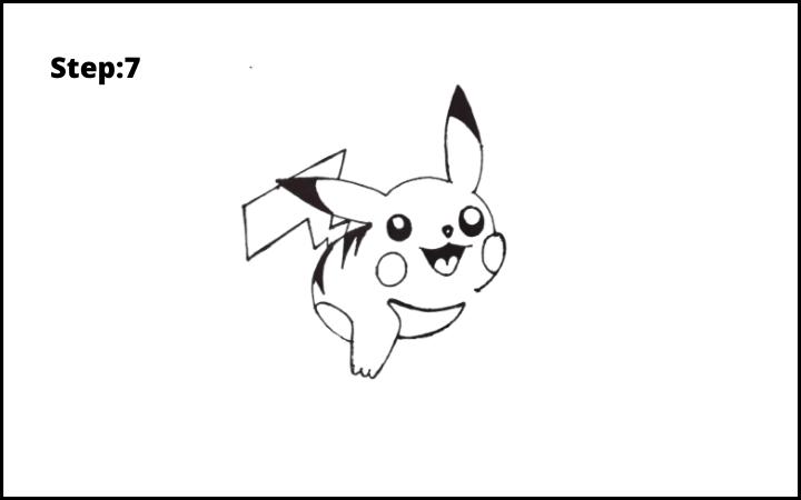How to Draw Pikachu Pokemon STEP 7