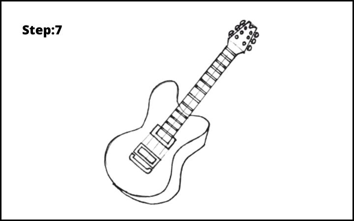 Draw a Guitar step 7