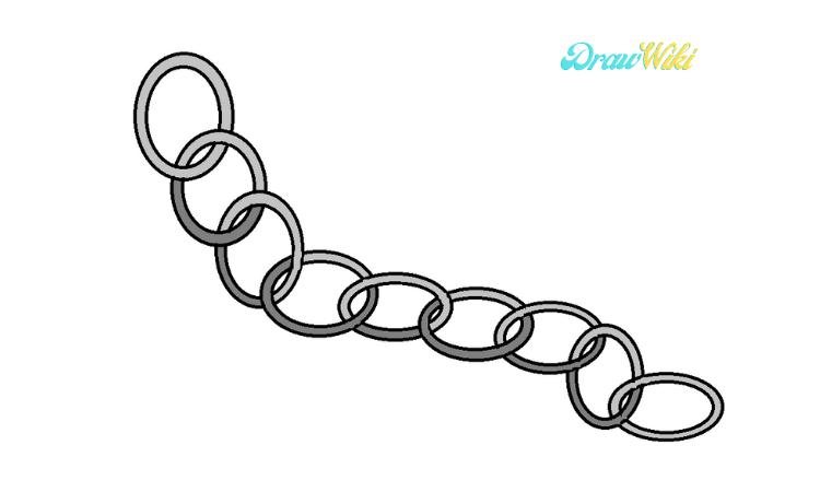 Circular Chain Drawing step 7