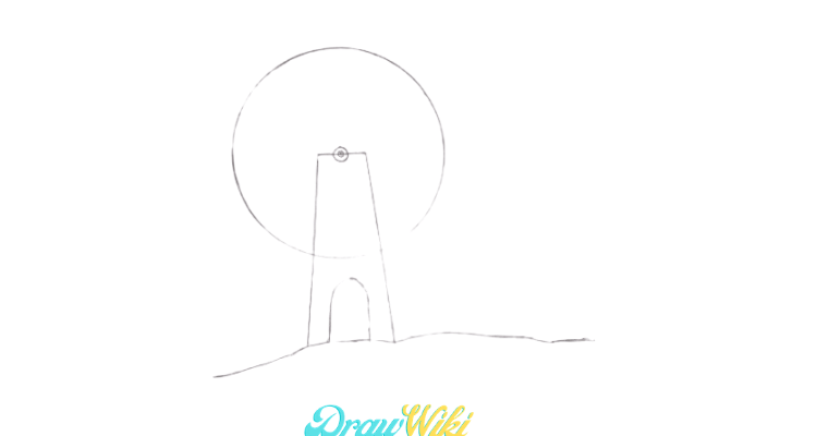 How To Draw a Windmill Step 6