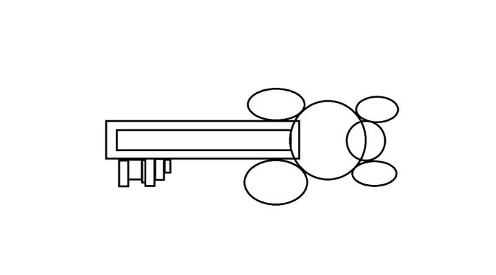 How To Draw a Key step 7