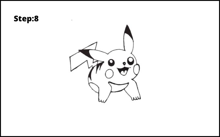 How to Draw Pikachu Pokemon STEP 8