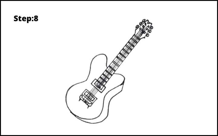 Draw a Guitar step 8