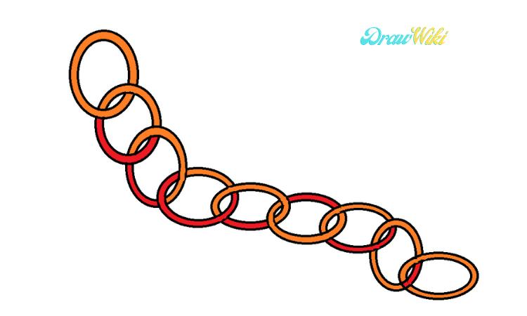 Circular Chain Drawing step 8