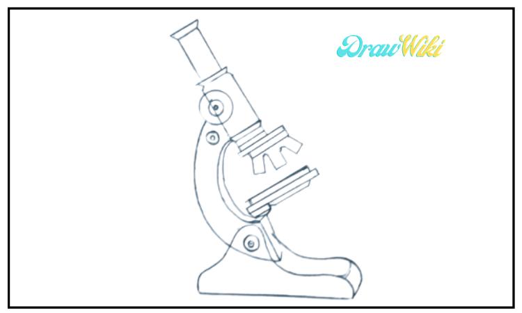 draw a microscope step 8