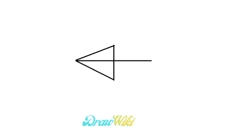 pointing Arrow drawing step 3
