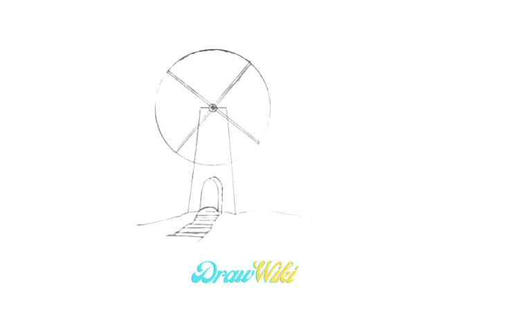 How To Draw a Windmill Step 8