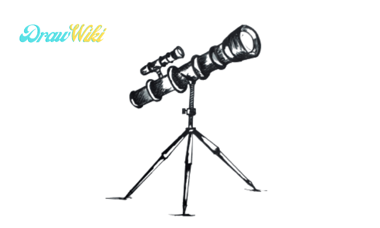 How to draw a telescope step 8