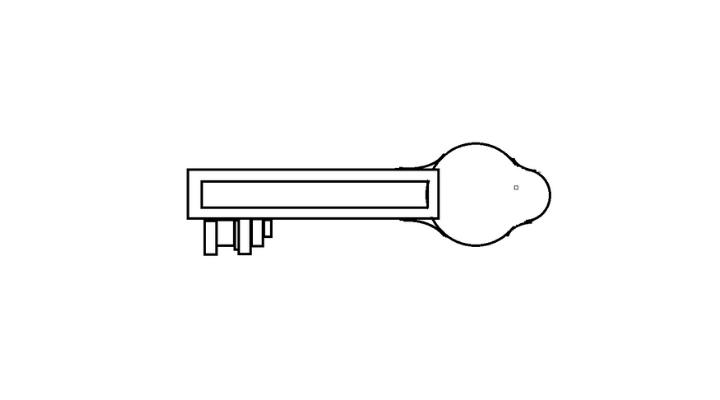 How To Draw a Key step 8