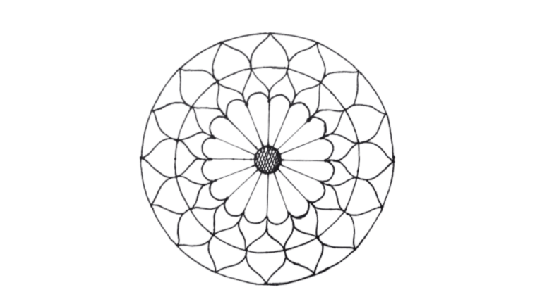 How to draw simple Onam pookalam designs