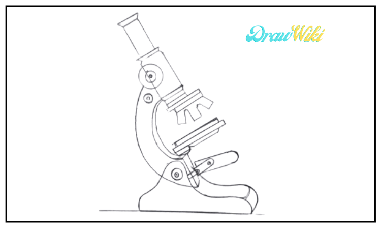 draw a microscope step 9