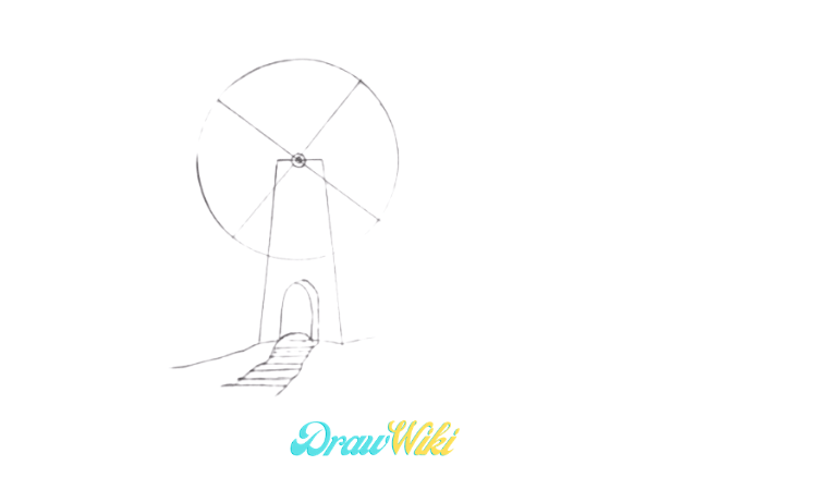 How To Draw a Windmill Step 7