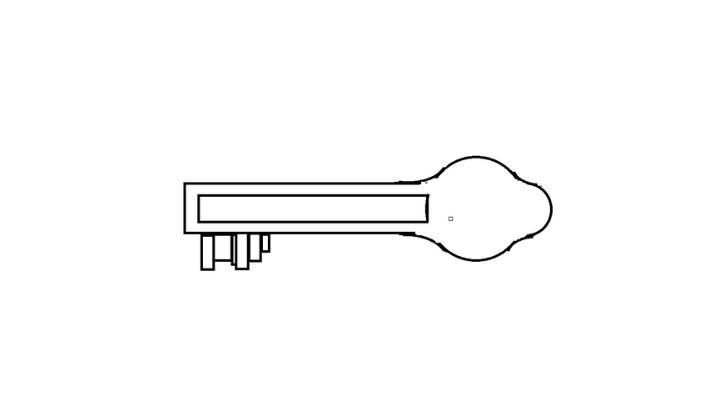 How To Draw a Key step 9