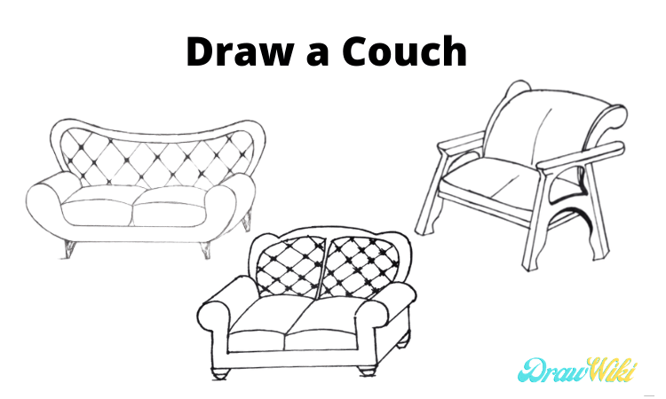 Draw a Couch Step by Step