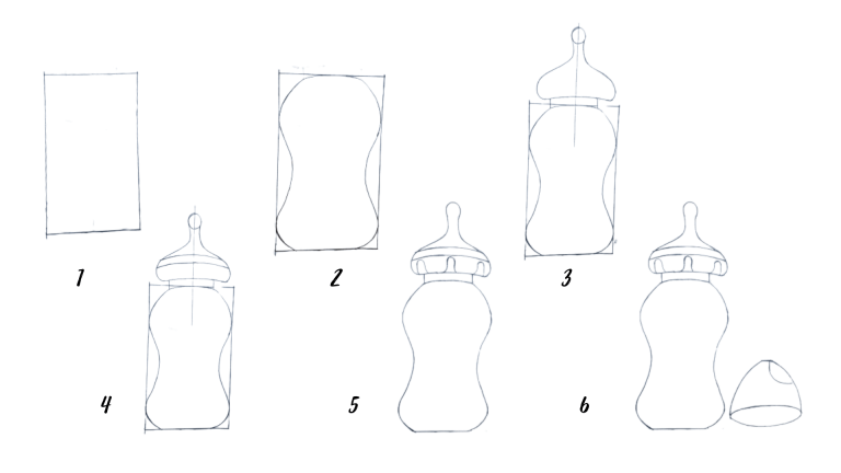 How to Draw a Baby Bottle
