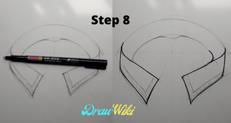 how to draw shirt collars steps8