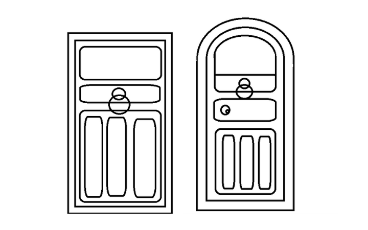 How To Draw A Door Step By Step For Beginners