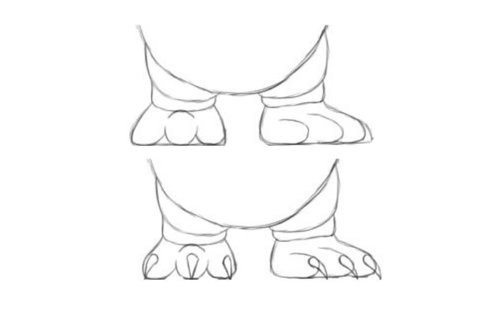 Step 3: Coat and Feet