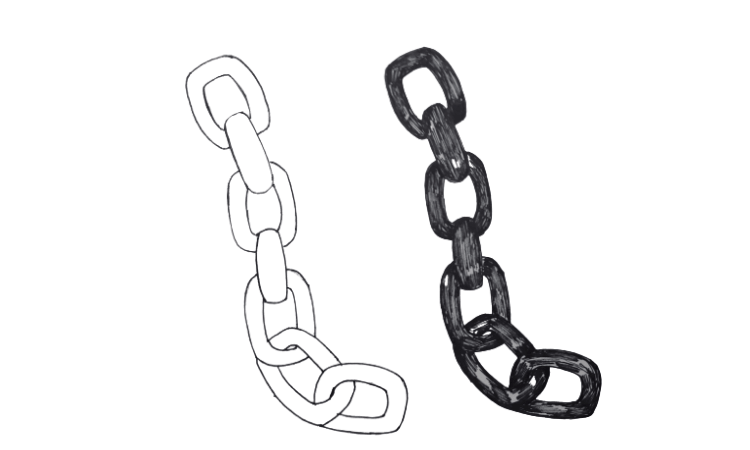 Draw A Chain Step By Step