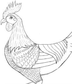 Step 11: Draw Feather Dress