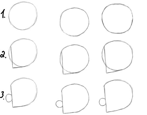 How to Draw Cosmo and Friends Step 1