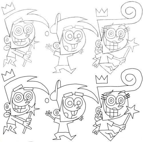 How to Draw Cosmo and Friends Step 6