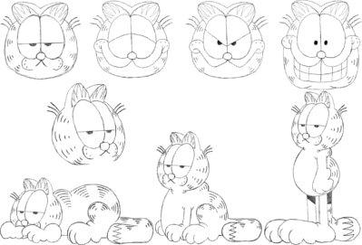how-to-draw-Garfield