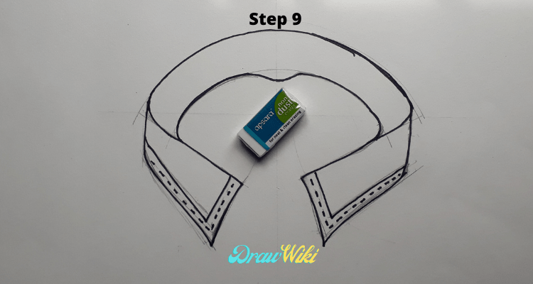 how to draw shirt collars steps9