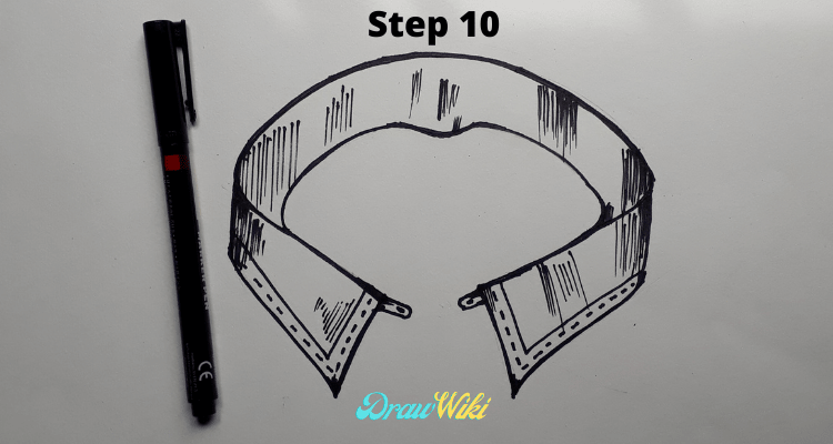 how to draw shirt collars steps10