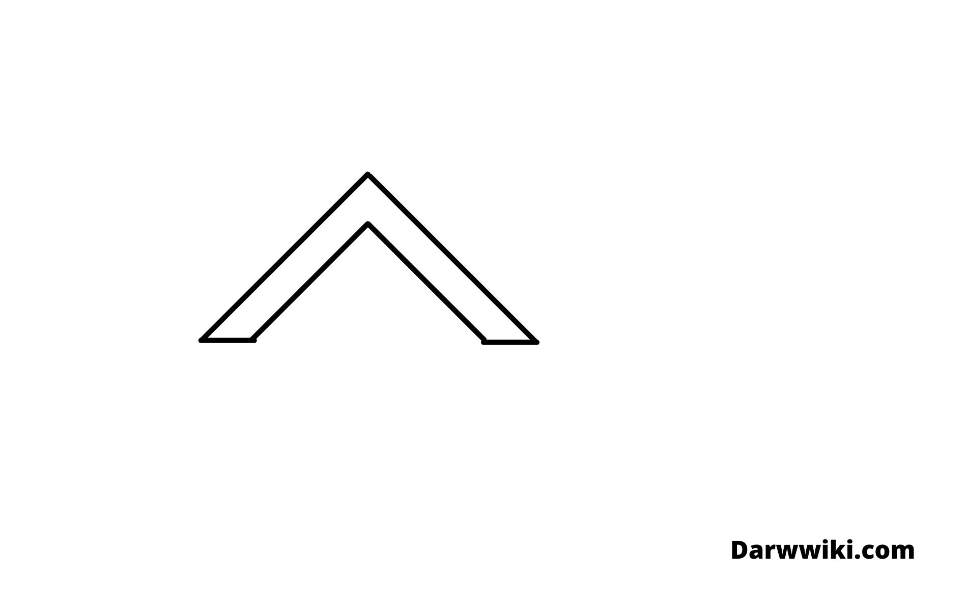 how to draw house Step 1- Draw First Part of the Roof
