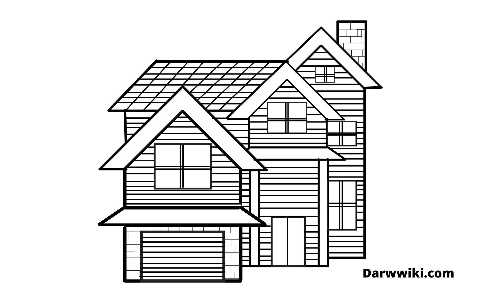 How To Draw House Step 10 - Draw All Rest of Line