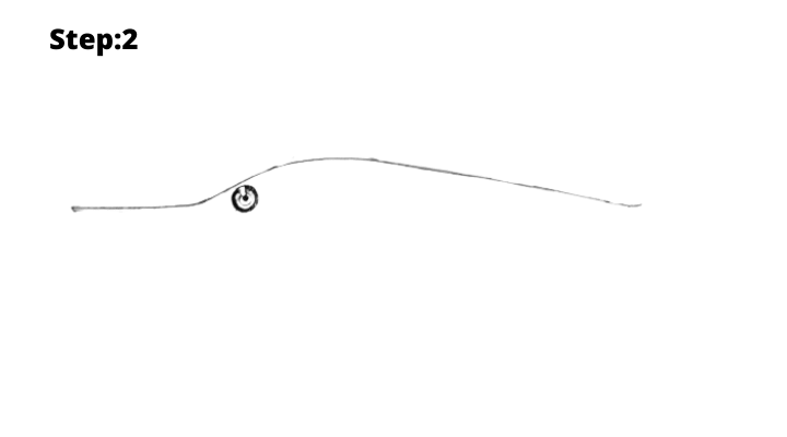 Step-2: Draw the fish upper outline