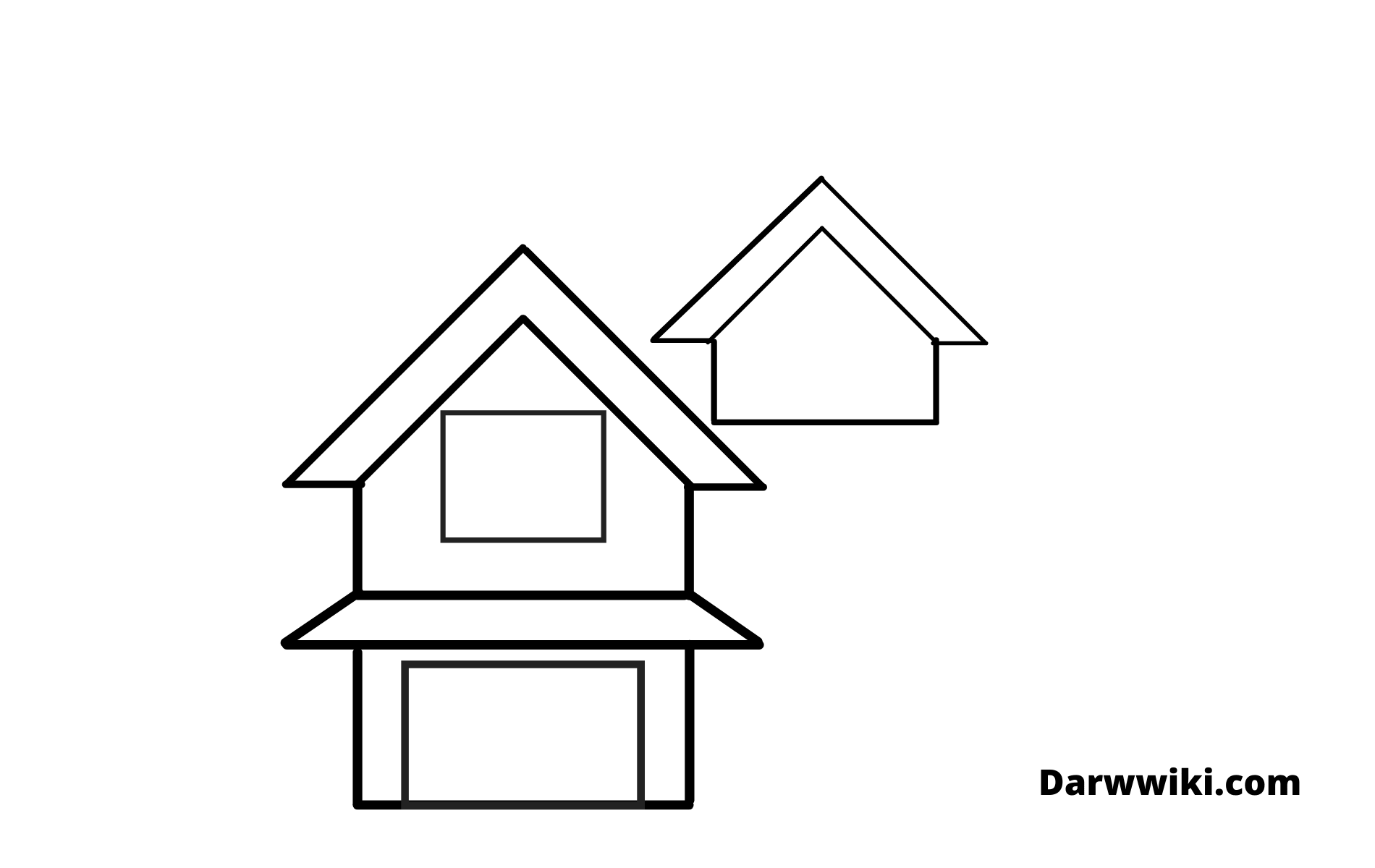 Draw house Step 4- Draw Part Section of the House Roof