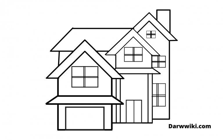 How To Draw A House With Easy Steps